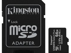 Memorie microSDXC Kingston Canvas Select Plus 64GB UHS-1, SDCS2 64GB